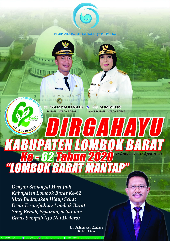 DIRGAHAYU Kabupaten Lombok Barat Ke-62 Tahun 2020