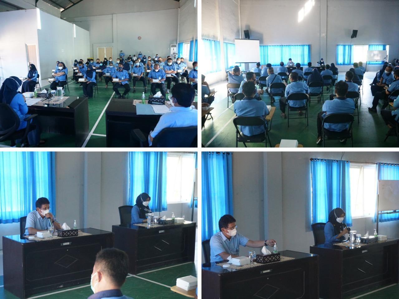 Kegiatan Alih Tugas Staf dan Pejabat Struktural dilakukan di Ruang Aula Kantor Pusat PT AMGM