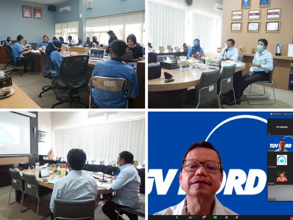 Foto Audit Sistem Manajemen Anti Penyuapan ISO 37001 : 2016 Melalui Zoom Meeting